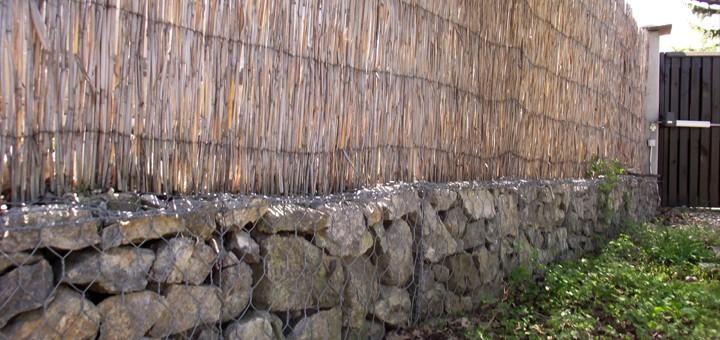 Подпорна ограда с габиони